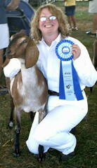 Autumn winning Grand Champion in Santa Cruz